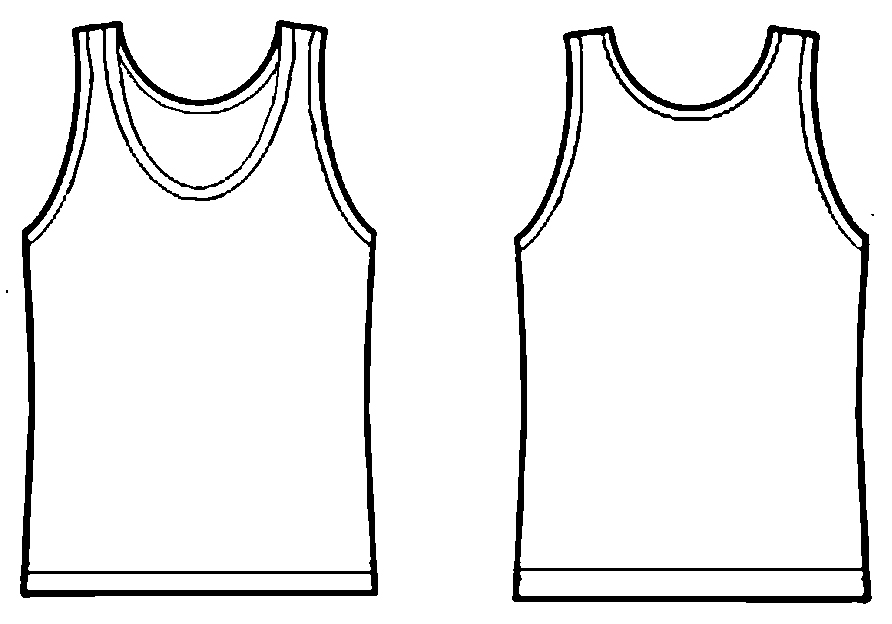Sleeveless shirt template gallery template design ideas for T shirt printing business proposal letter